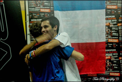 R.Lebois & A.Claris after the announce of the results. Photo : T.Bourbon