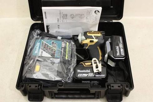 【マキタ】創業100周年限定色ゴールドマキタ 18V充電式インパクトドライバ TD148DSP1