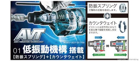 マキタ 26mmハンマードリル(2モード) SDSプラス HR2601F