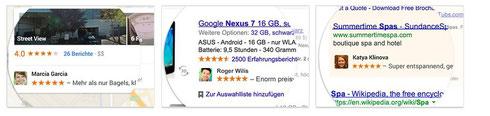 Soziale Empfehlungen made by google