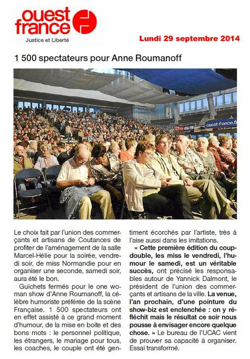 Ouest-France, 29/09/2014
