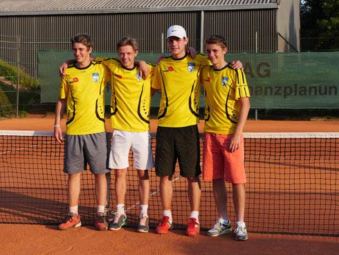 v. l. Jan Niklas Kühling, Luca Vigener, Tim Boehlke, Adrian Kranz