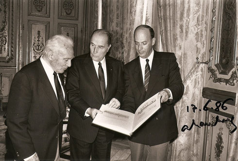 1986 André Hambourg, Robert et François Mitterand