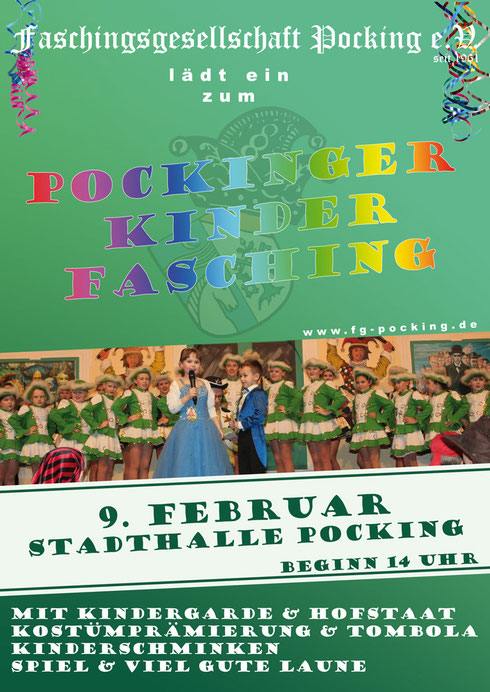 Kinderfasching am 9.Februar in der Stadthalle Pocking