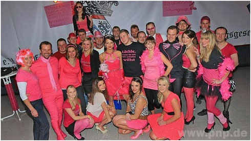 Das Tussi on Tour Party Team der Pockinger Faschingsgesellschaft