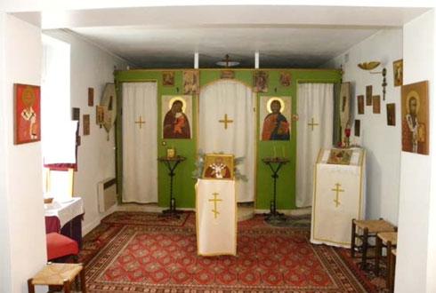 Blick in die Kapelle des heiligen Martin des Mildtätigen in Tours