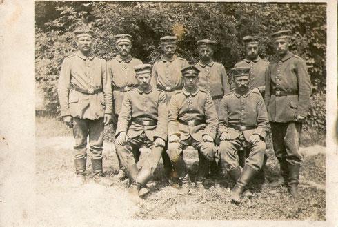 Trupp von Heinrich Schürmann (unten in der Mitte)