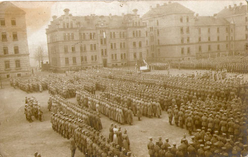 Mobilmachung RIR 92 im August 1914 in Osnabrück