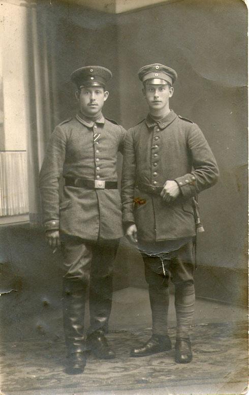 Wilhelm (links) und Arnold Völker