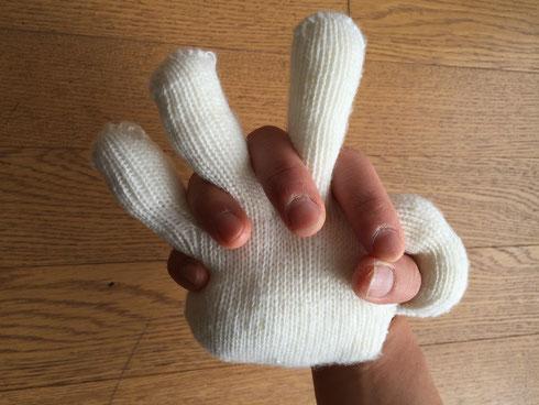 見た目もOK!握り具合も気持ちいい。訓練員お手製のハンドクッション「にぎにぎ」