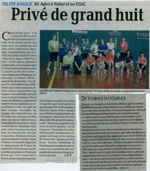 Le Petit Bleu 11 mai 2010