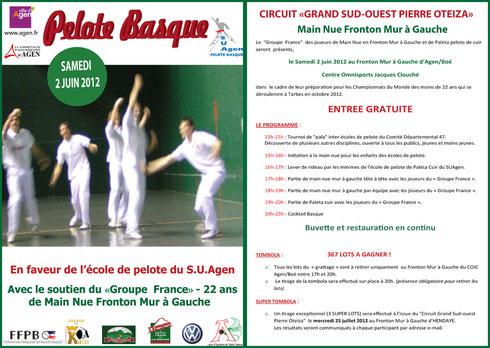 Grande journée main nue samedi 2 juin au COJC de Boé!