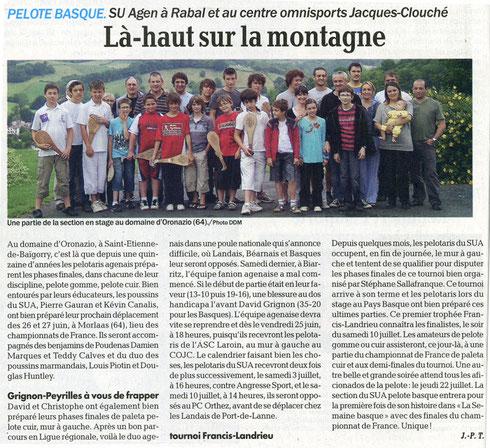 Le Petit Bleu 22 juin 2010