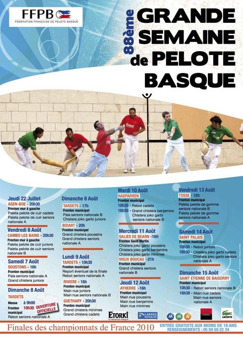 Affiche grande semaine basque