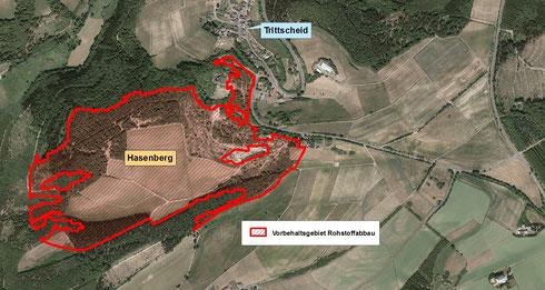 Vorbehaltsgebiet Rohstoffabbau Hasenberg bei Trittscheid