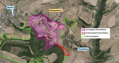 Vorbehaltsgebiet Rohstoffabbau Wartgesberg bei Srohn