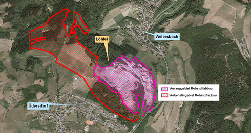 Vorbehaltsgebiet Rohstoffabbau Löhlei bei Üdersdorf