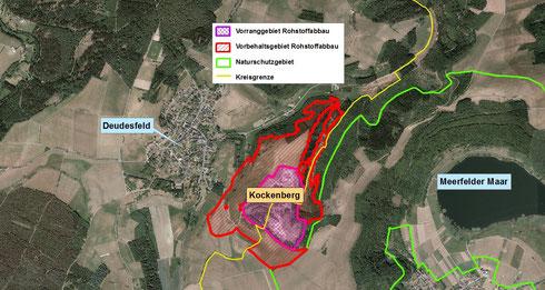 Vorrang- und Vorbehaltsgebiet Rohstoffabbau Kockenberg bei Deudesfeld