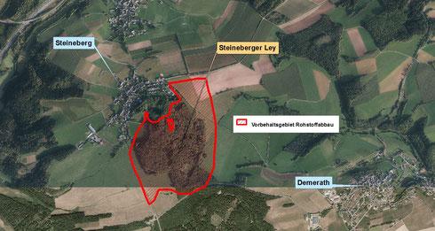 Vorbehaltsgebiet Rohstoffabbau Steinerberg Ley