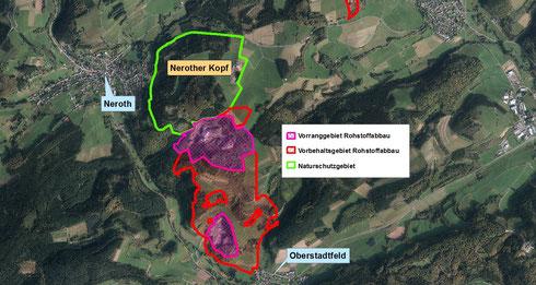 Vorbehaltsgebiet Rohstoffabbau Nerother Kopf / Kalenberg