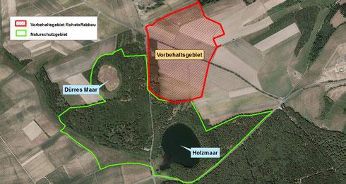 Vorbehaltsgebiet Rohstoffabbau Holzmaarbereich