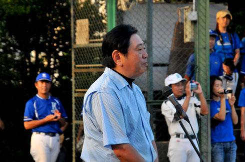次の次までカバーできる野球をとお言葉を頂きました。審判副部長
