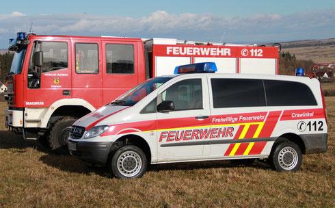 neues Crawinkler Feuerwehr-Einsatzfahrzeug - im Dienst seit Februar 2014