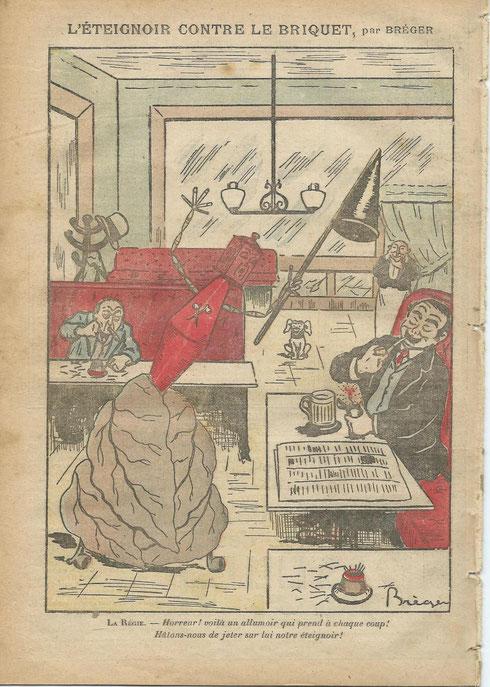 Lithographie par Bréger 18/12/1910