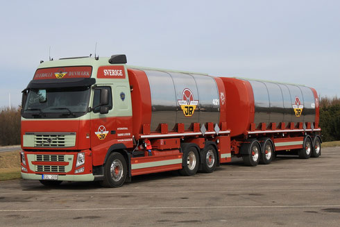 Die Firma Rasmussen zählt zu den grössten Transportfirmen in den Bereichen Tank/Silo und Betonteiletransporte in Skandinavien.