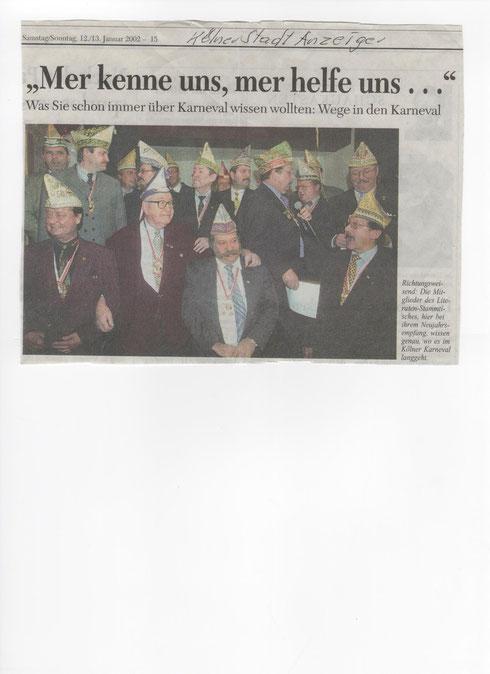 Kölner Stadtanzeiger 13.01.2002