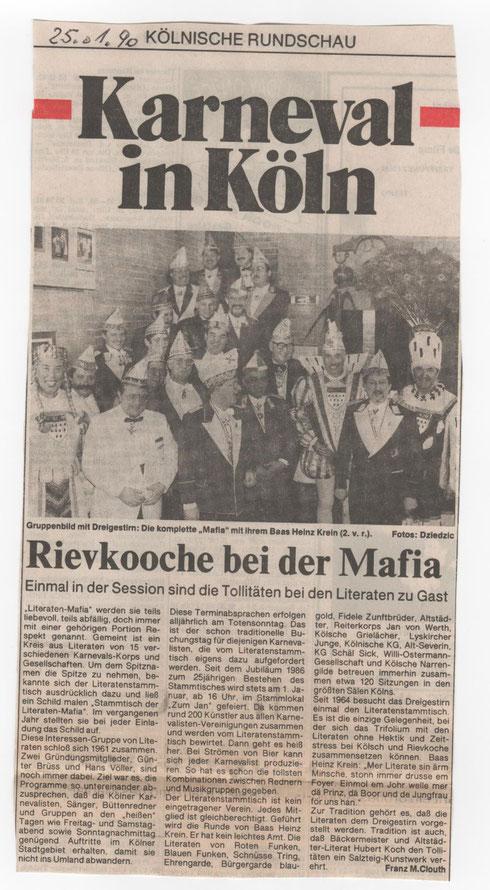 Kölnische Rundschau 25.1.1990