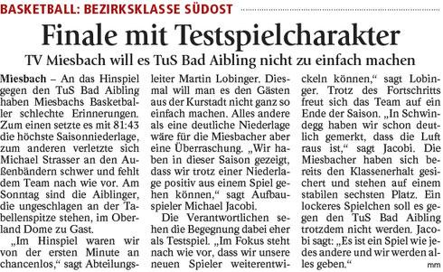 Artikel im Miesbacher Merkur am 25.3.2017 - Zum Vergrößern klicken