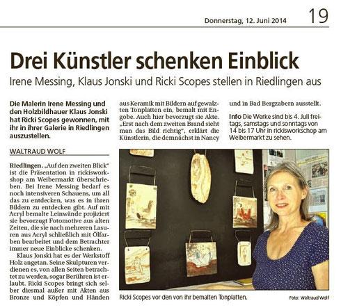 Südwestpresse Alb Bote 12.06.2014