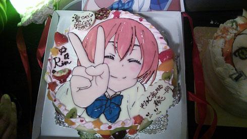 店長自腹の凛ちゃんケーキ