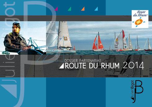 Plaquette de sponsoring Route du Rhum - Julien Bigot