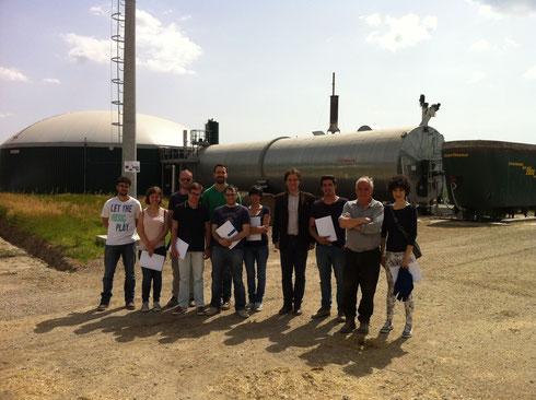 Foto di gruppo dei partecipanti con il proprietario dell'impianto dottor Alessandro Stassano