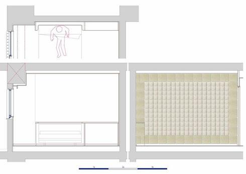 寝室 エコカラット フィギュア棚 家具図