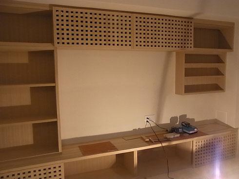 TV棚 取り付け完了