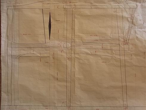 肘掛椅子 製作原寸図