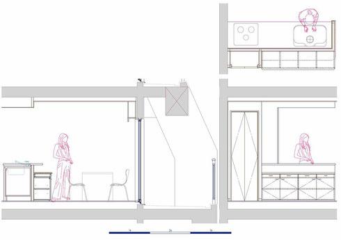 ダイニング 食器棚 家具図