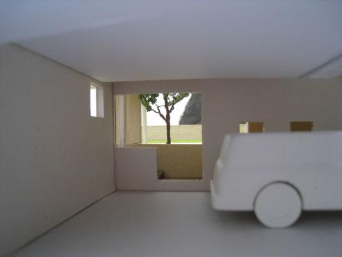 ガレージ 書斎 中庭