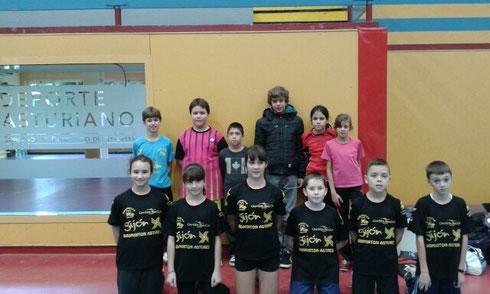 Jugadores SBC Astures, concentración regional. 2014