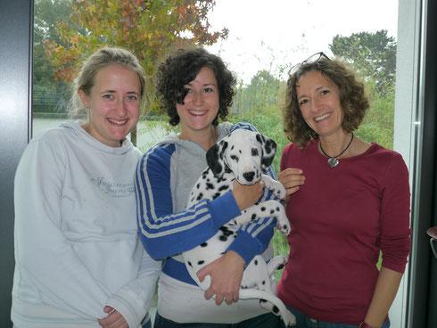 Unsere Erstgeborene - Frau Hellblau - hat ihr Körbchen nun in Oldenburg stehen