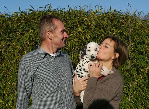 Liebe kennt keine Grenzen - unsere süße Frau Lila wohnt nun in Belgien bei Familie van der Poel...
