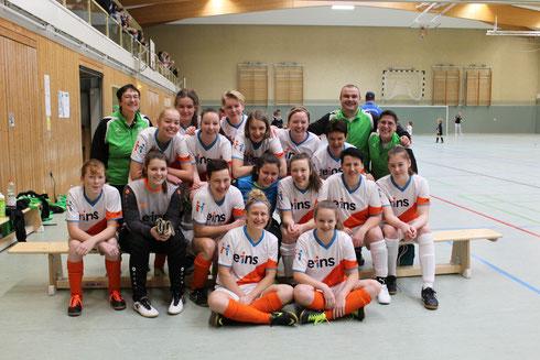 Das Team zur Vereinspräsentation 2020 - 25 Jahren Frauenfußball in Rußdorf