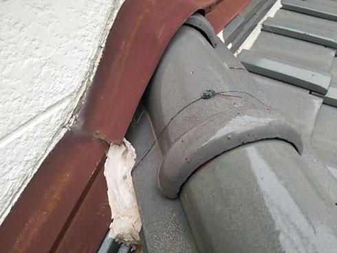 壁際の雨漏り