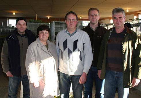 v.l. Sebastian Bartels, Roswitha Ihrke, Reiner Tietge, Mike Hennings, Bernd Meinecke