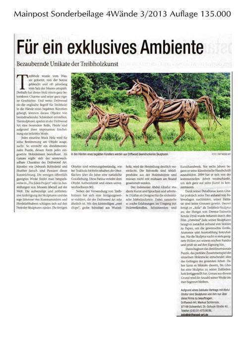 Mainpost Sonderbeilage 4Wände 3/2013 Auflage 135.000