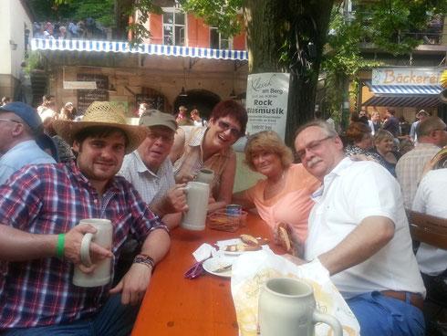 v.l.n.r.: Markus, Korbin, Moni, Angie und Rainer.