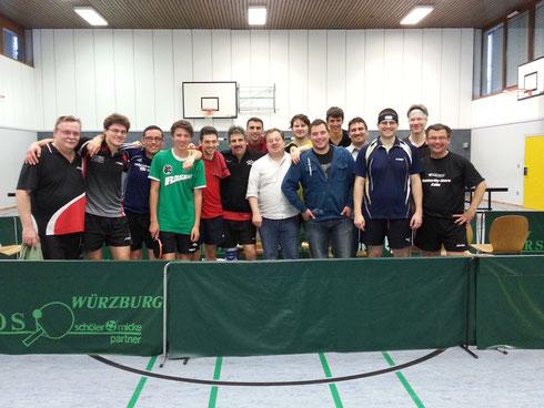 Zufriedene Teilnehmer in Waldbüttelbrunn.